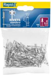 Bruine Rapid blindklinknagels aluminium 3,2 x 8 mm 100 stuks