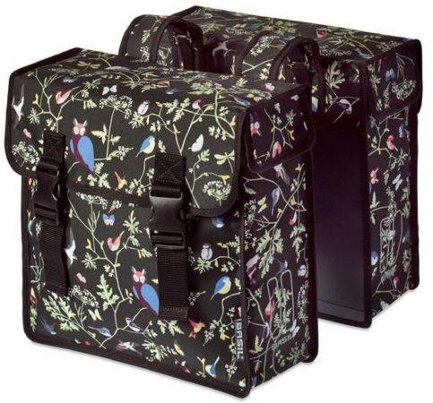 Afbeelding van Zwarte Basily Basil Wanderlust Double Bag - Dubbele Fietstas - 35 Liter - Charcoal Zwart