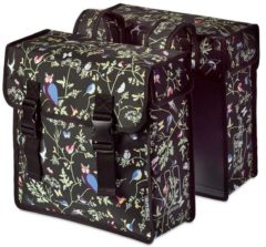 Zwarte Basily Basil Wanderlust Double Bag - Dubbele Fietstas - 35 Liter - Charcoal Zwart