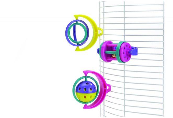 Afbeelding van Beeztees Parkietenspeeltje met Clip 10 x 8 cm
