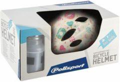 Polisport Helm Lollipops Wit XS 48-52 Junior Wit/Lichtroze