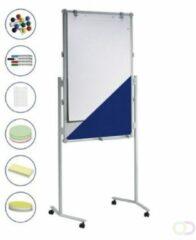 Grijze Presentatiebord MAUL pro set, text./ whitebord, 120x75 cm