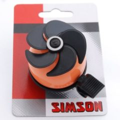 Zwarte Simson Fietsbel Air Oranje Zwart