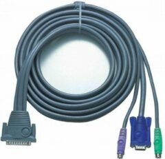 Grijze Aten PS/2 KVM Cable, 10m