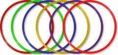 Paarse MD Sport   Hoepelset van 6 hoepels diameter 36CM   Turnhoepels   Schoolplein hoepels