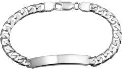 Zilveren The Jewelry Collection For Men Graveer- Herenarmband - Gourmet Plaat 6 mm - Zilver