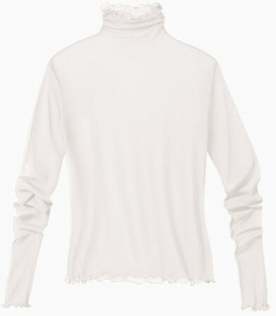 Afbeelding van Enna Shirt met lange mouwen uit biologische zijde, naturelwit 40/42