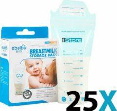 TJ Store 25 stuks 300ml - borstvoeding zakjes - moedermelk zakjes - moedermelk bewaarzakjes - bewaarzakjes met datumsticker - bewaarzakjes - moedermelk bewaarzakjes - borstvoeding bewaarzakjes