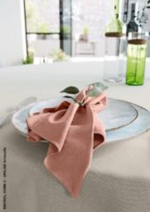 Mistral Home - set van 4 servetten - katoen polyester - 43x43 cm - terracotta