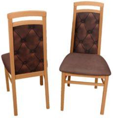 2er Set Stühle braun