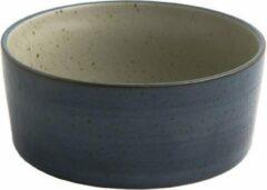 Donkerblauwe D&M Deco OSKAR Lea bowl ø15,5 cm - set of 4 - midnight / D15.5