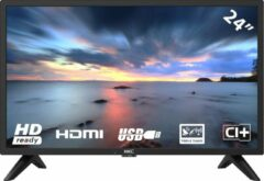 Zwarte HKC 24F1D HD LED-tv van 60 cm (24 inch)(HD. Triple Tuner. CI+. HDMI. USB)