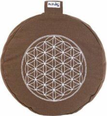 Bruine Spiru Meditatiekussen – Flower of Life