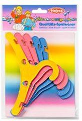 Blauwe Heless Gekleurde poppen kledinghangertjes, 5 stuks