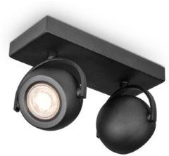 Home Sweet Home LED opbouwspot Nop 2 lichts 23 cm zwart