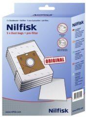 Niko Nilfisk stofzak, 5 per, voor nilfisk A100, 1 nilfisk A200, 2 nilfisk Bravo