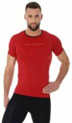Brubeck Heren Sportkleding - 3D PRO Hardloopshirt / Sportshirt - Naadloos - Rood - L