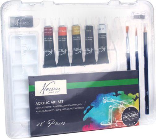 Afbeelding van Marineblauwe Art Sensations Nassau Fine Art acrylverf-set, 10 tubes à 12 ml