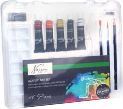 Marineblauwe Art Sensations Nassau Fine Art acrylverf-set, 10 tubes à 12 ml