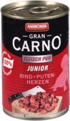 Animonda GranCarno Original Junior - Rund met Kalkoenhart - 6 x 400 g