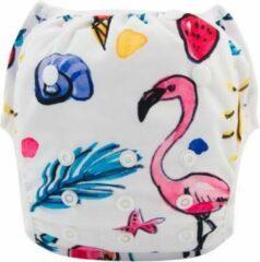 Alva baby Wasbare zwemluier Flamingo - Petit Pas NL