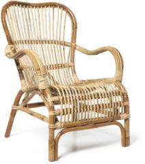 Bruine Xenos Rotan fauteuil Bandung - naturel - 83x69x84 cm