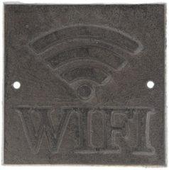 Clayre & Eef Tekstbord 6Y3015 8*8*0.5 cm Bruin Metaal Vierkant Wandbord Quote Bord Spreuk