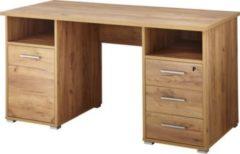 Dynamic24 Schreibtisch Computertisch PC Tisch Arbeitstisch Bürotisch Büro Möbel Eiche