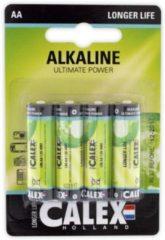 Groene Calex 4-Pack AA batterijen - Penlite Alkaline Longlife