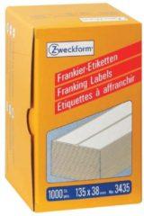 Witte Avery Zweckform frankeeretiketten ft 135 x 38 mm, doos van 1000 stuks