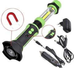 Groene Pro+ Flexibele looplamp COB LED oplaadbaar met haak en magneet