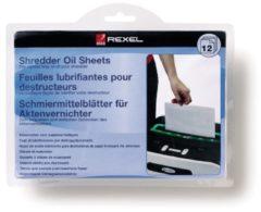 Blauwe Rexel Oil Sheets Pak - 12 stuks - onderhoud voor alle papiervernietigers