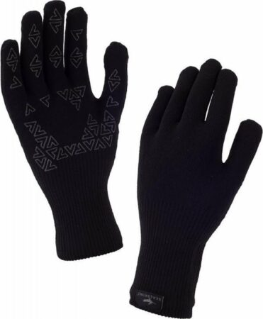 Afbeelding van Zwarte Sealskinz Waterproof All Weather Ultra Grip Knitted Glove Fietshandschoenen Unisex - Maat M