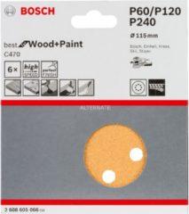 Stayer Bosch C470 Schleifblatt, 6er-Pack für Exzenterschleifer 2608605066