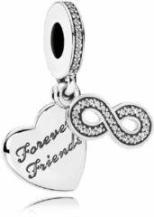 Pandora Hangbedel zilver 'Forever Friends' met Infinity. 791948CZ