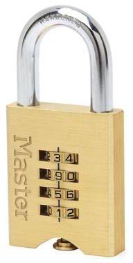Afbeelding van Gele Master lock combinatie hangslot 50 mm massief messing 651eurd