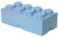 Room Copenhagen Lego Classic Lunchbox - Mini 8 - 4,6 x 9,2 x 4,3 cm - Lichtblauw