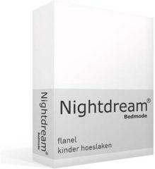 Snoozing flanel kinderhoeslaken - 100% geruwde flanel-katoen - Peuter (70x140/150 cm) - Wit
