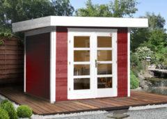 Rode WEKA | Designhuis 126 | 295 x 300 cm | Zweeds rood