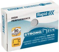Doos van 1000 nietjes Rapid 21/4 gegalvaniseerd Strong