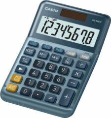 Grijze Casio MS-88EM Desk calculator Blue Display (digits): 8 solar-powered (L x W) 101 mm x 149 mm
