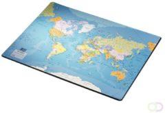Bruna Onderlegger Esselte 40x53cm met wereldkaart Engels