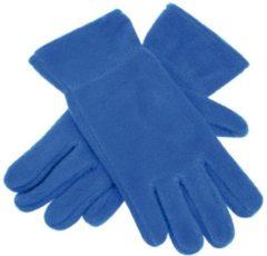 Blauwe Merkloos / Sans marque Fleece handschoenen kobalt M/L