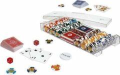 Dal Negro Pokerset Luxe 41,5 Cm Plex Transparant 6-delig
