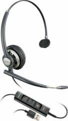 Poly Plantronics Encorepro HW715 hoofdtelefoon Monauraal Hoofdband Zwart, Zilver