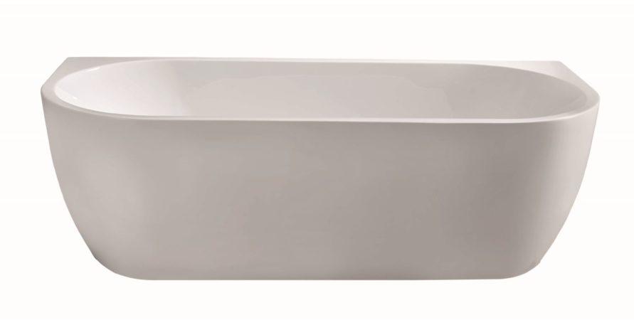 Afbeelding van Douche Concurrent Ligbad Half Vrijstaand Wall Rechthoek 80x180x58cm Glasvezelversterkt Hoogwaardig Acryl Glans Wit met Badwaste en Overloop