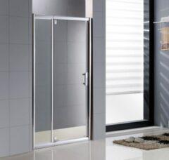 Sub draaideur 120 x 200 cm, veiligheidsglas en inox deurgreep