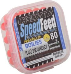 Rode Cresta Speedfeed Boilies | Fluo Strawberry | 9mm | 80g