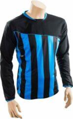 Precision voetbalshirt precision polyester zwart blauw