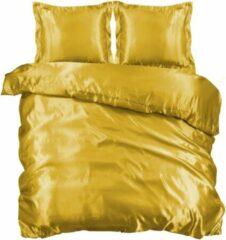 Beauty Silk Dekbedovertrek - 240x200/220 - Glans Satijn - Goud